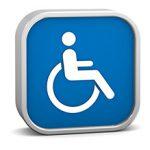 simbolo de uma cadeirante